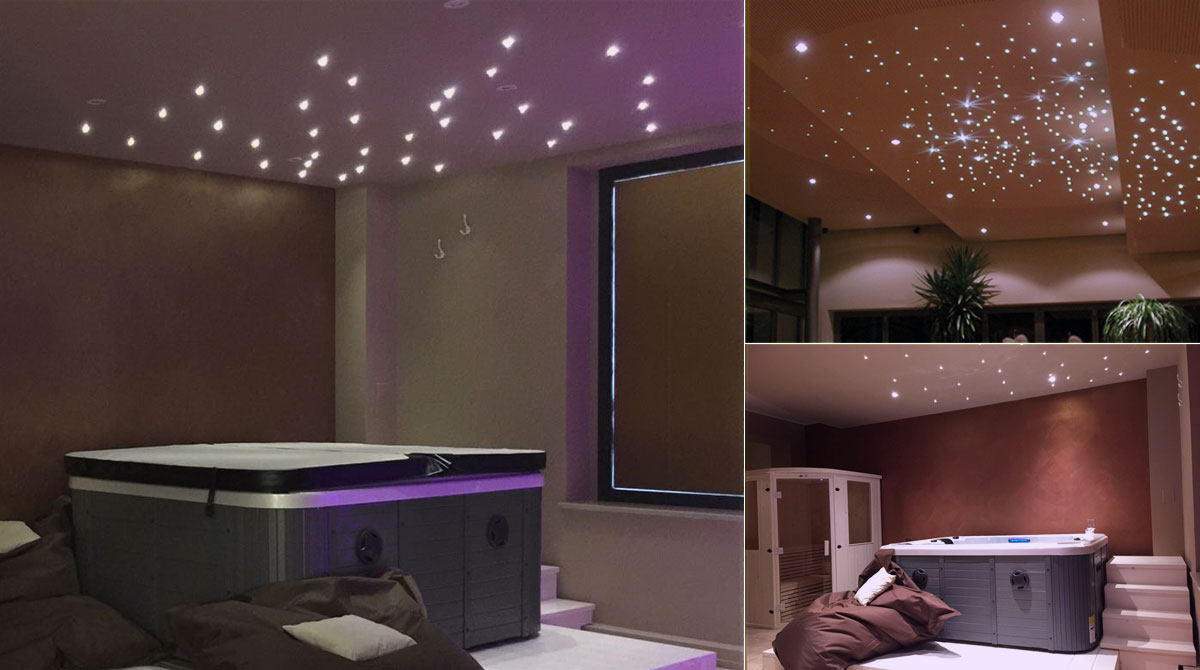 Camere Tumblr Con Luci : Minipiscina in camera con soffitto stellato
